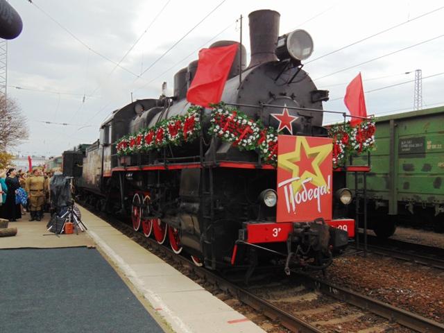 ВТаганроге встретили ретро-поезд «Победа»
